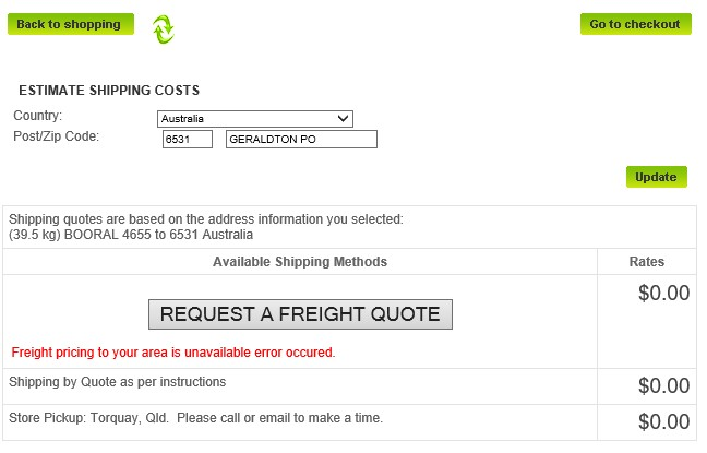 Shipping by Quote